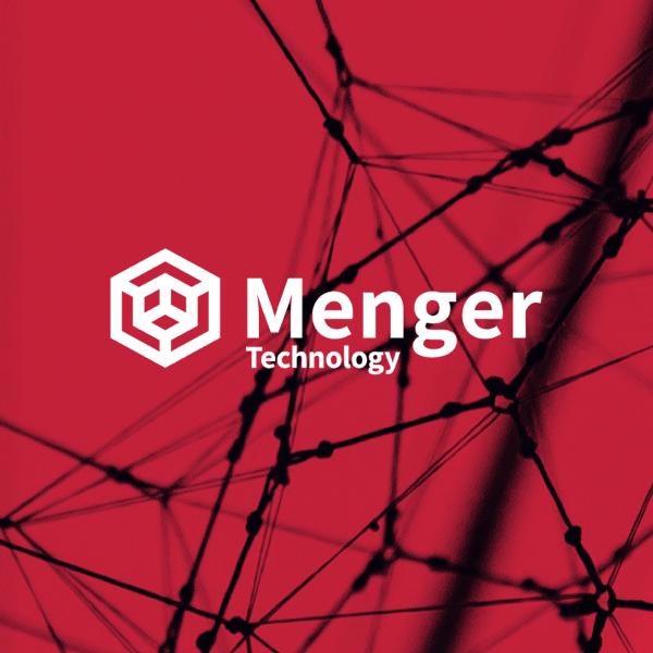 Menger Technology Logo mit Hintergrundbild in zweifacher Größe.